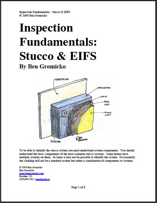 Checklist For Inspecting Stucco And Eifs